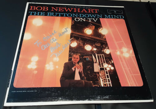 """BOB NEWHART - Record Album, """"THE BUTTON-DOWN MIND ON TV"""" - SIGNED"""