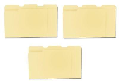 3 Pack-universal 13 Assorted Cut File Folders Top Tab Letter Manila 100ct.