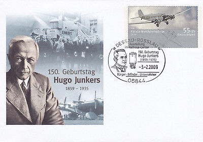 Germany 2009 150th Birth anniversary of Hugo Junkers cover VGC