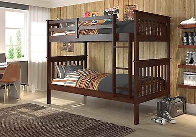 Childs Slat - Donco Kids Twin over Twin Mission Bunk Bed in Cappuccino with Slat Kits