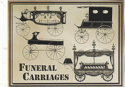 """*Postcard-""""Various (Older) Funeral Carriages"""" (#191)"""