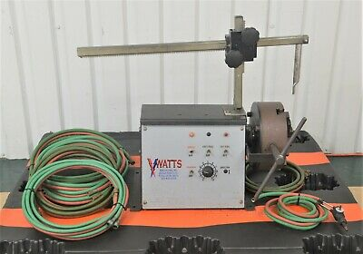 Watts W-60-20 Small Straight Pipe Cutter Beveler Cutting Machine W Torch