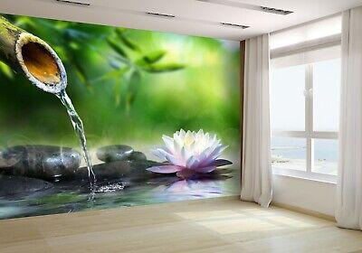 Zen Garden With Stones and Waterlily Wallpaper Mural Photo33104625 premium paper