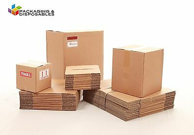 30 x Small Packaging Double Wall Cardboard boxes 7 x 7 x 7