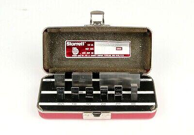 Starrett Webber Steel Gage Blocks 8-piece Set .0625 To 2.000