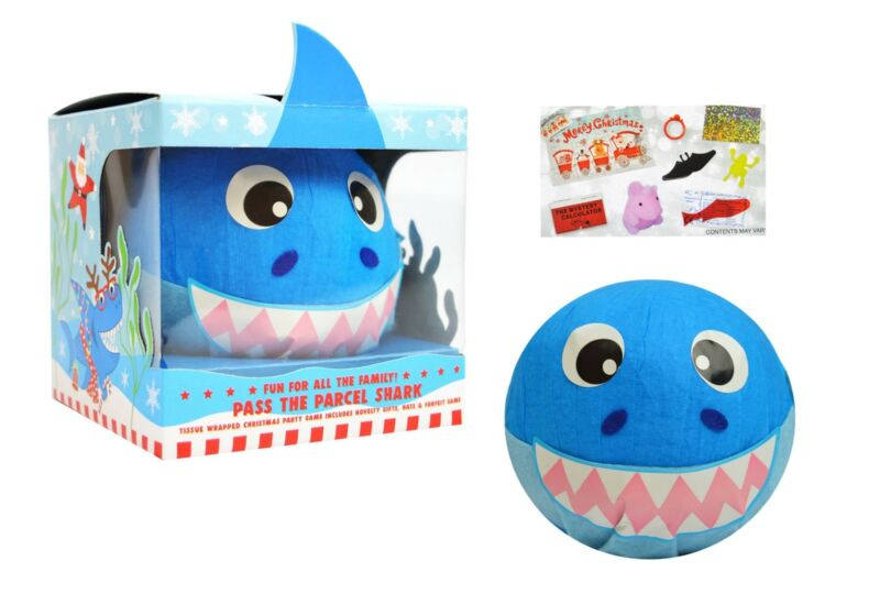 Pass The Parcel Shark Christmas Party Game Kids Novelty Gifts Hats Forfeits