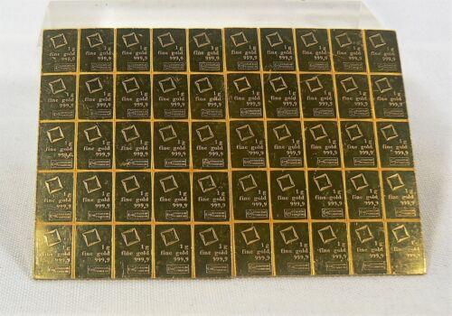 1 gram Valcambi Gold Bar Valcambi Suisse CombiBar .9999 Fine (Secondary Market)
