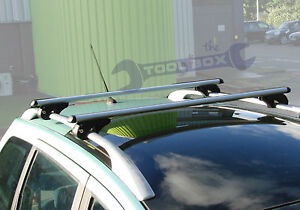 Aluminium Profiled Roof Bars 120cm - One Pair- for cars with existing roof rails