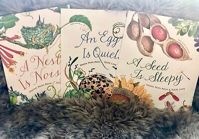 Egg is Quiet, Seed is Sleepy, Nest is Noisy 3 book set by D.Hutts Aston S.Long