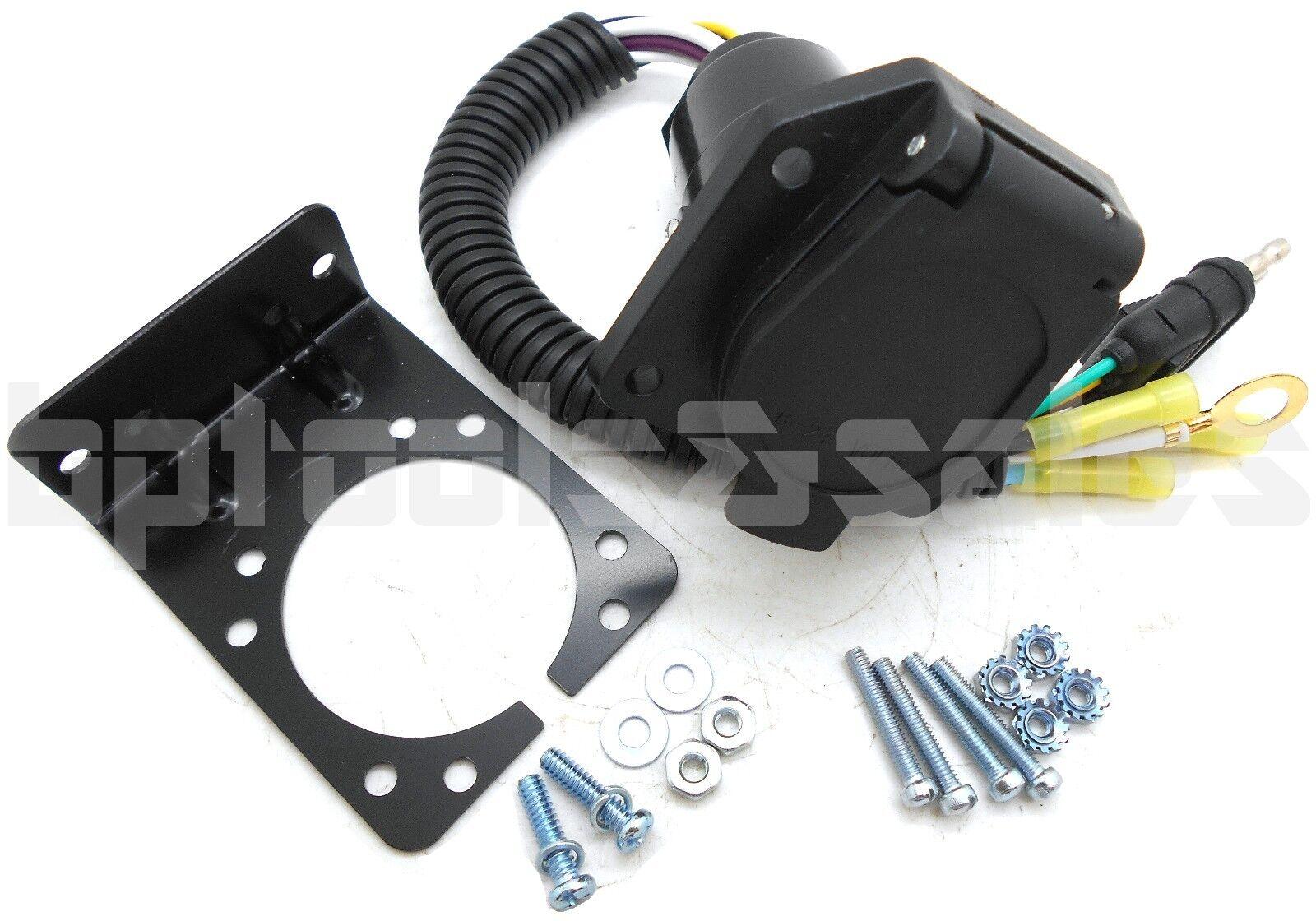 4 Wire Flat To 7 Way Rv Trailer Light Custom Plug Harness Wiring 5 Of Converter Adapter