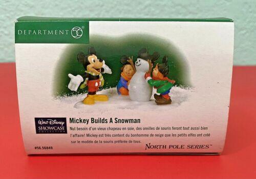 "Dept 56 Disney Showcase ""Mickey Builds a Snowman"" Accessory in Original Box New"