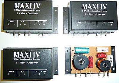 4 x AIV 2 Wege Frequenzweiche - Neu - Crossover - Weiche - KFZ  - 4 Ohm - AV-006