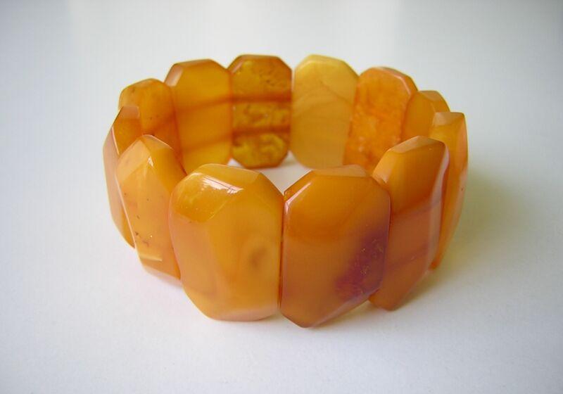 Massive Nature Amber Bracelet Butterscotch/Honey 1.4oz Genuine Amber