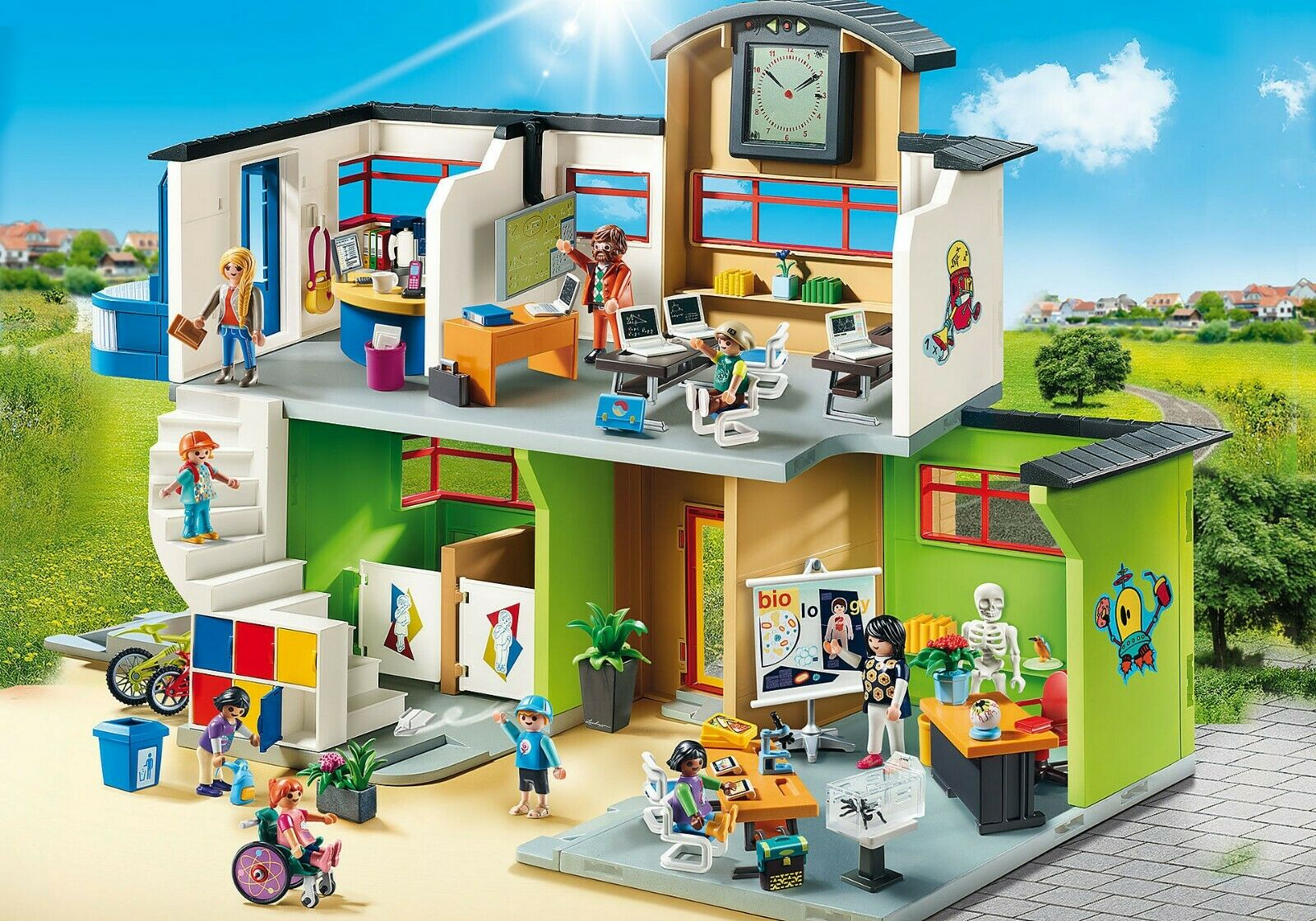 PLAYMOBIL Furnished School Building 9453 - NEW - $99.00