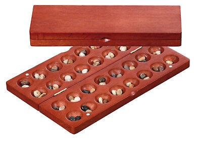 Hus Bao klein rotbraun Brettspiel Steinespiel Bohnenspiel  (Familienspiele, Brettspiele)