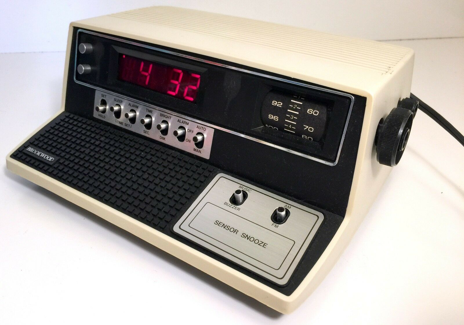 Digital Brookwood Alarm Clock Radio 7002  with Compu Readout and Sensor Snooze