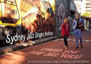 Singing Lessons - Sydney Jazz Singers Workshop Now Enrolling! Ashfield Ashfield Area Preview