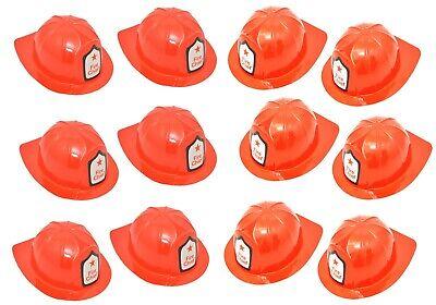 12 Stück FEUERWEHR HELM KINDER Karneval Feuerwehrmann Kostüm USA Hut Rot NEU 🚒