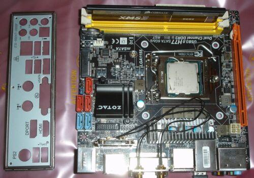 Zotac H77ITX-A-E ITX LGA 1155 Motherboard + i5-2400 cpu + 4 GB Ram Combo H77