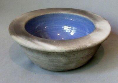 Jessica Dubin - Pit Fired Bowl with Light Blue Interior Glaze