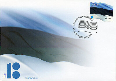 Estonia 2018 FDC Estonian Flag 1v S/A Set Cover Flags Stamps