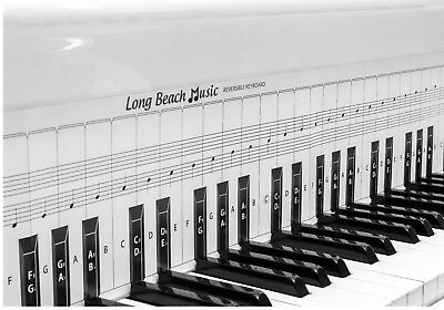 Practice Keyboard & Note Chart for Behind the Piano Keys