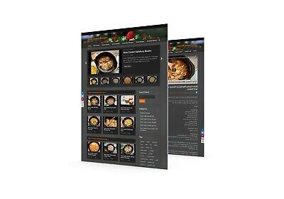 Video Recipes Wordpress Established Website Ll Profitable Ready
