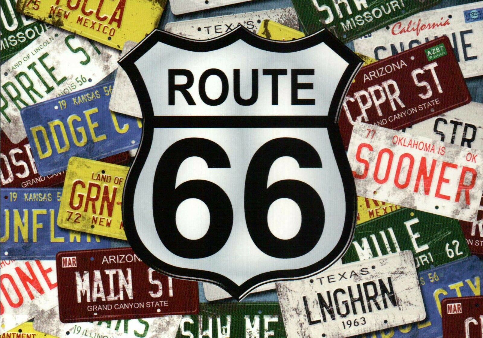 ultimate lot of 9 postcards route 66 america 39 s highway travel car road map etc picclick. Black Bedroom Furniture Sets. Home Design Ideas