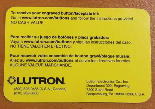 Lutron Engraving Certificate - Free Shipping