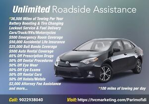 Roadside assistance program for Canada and US