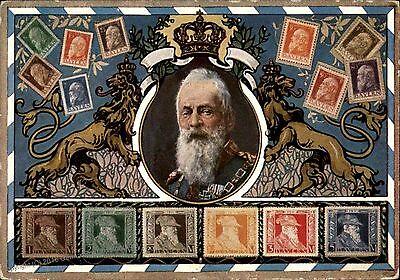 Memories Photo Magnet -  PHOTO MAGNET  Reproduction German Koenig Ludwig III Last Stamp Memorial Card