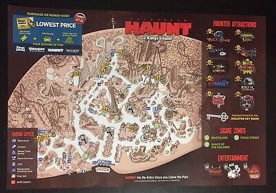 2017 Kings Island Amusement Park Map Guide Halloween Haunt official - Halloween Kings Island 2017
