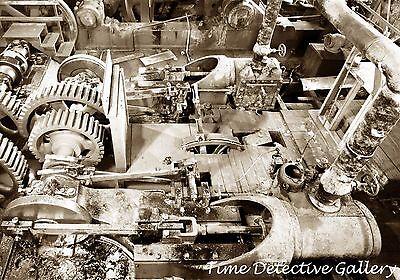 Powered Marine (Pistons & Gears, Steam-Powered Marine Railway, New London, CT - Steampunk Photo)