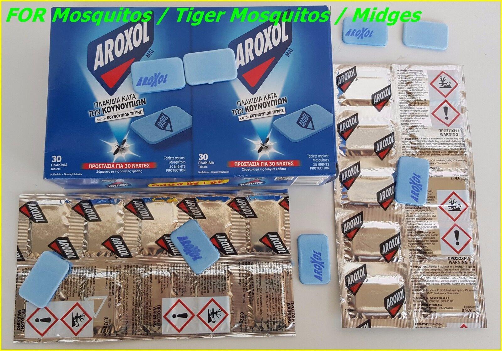 Zanzara (TIGRE) INSETTI MOSCHE BOCCONE REPELLENTE aroxol - Tappetino TABLET