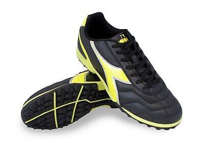 Diadora Men's Capitano TF Turf Soccer Shoes (Black / Neon -