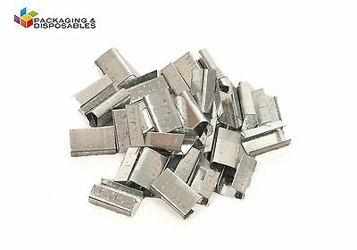 2000 x 12mm Metal Hand Pallet Strapping Banding Seal Clips