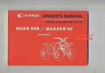 Genuine Kymco 90 Maxxer Quad ATV 90R MXER (03-04) Owners Manual Hand Book AB77