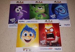 Set-completo-5-Cartoline-Inside-Out-Pixar-Promozione-Unipol-SAI
