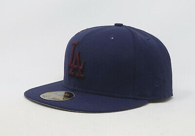 New Era 59Fifty Hat Mens MLB Los Angeles Dodgers Light Navy Blue Fitted 5950 Cap