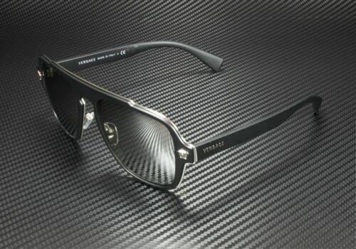 Versace VE2199 10006G Matte Black Grey Mirror Silver Lens Men