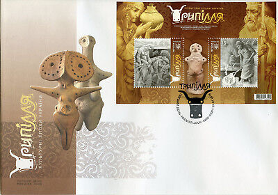 Ukraine 2018 FDC Trypillia 2v M/S Cover Art Cultures Traditions Artefacts Stamps