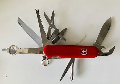 Vintage WENGER DELEMONT Victorinox Swiss Army Knife Multi Function 13 in 1 Tool