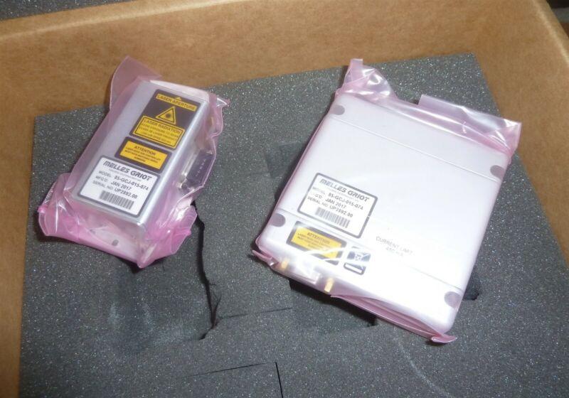 Melles Griot Red Diode Laser+ Controller 56CRH + 56CLC100 641nm NEW