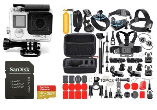 NEW GoPro HERO 4 Silver Edition Camera Camcorder 40+ Accessories!