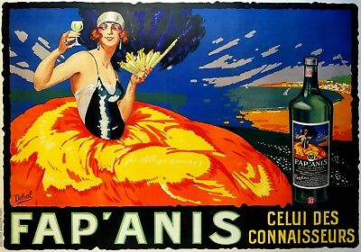 Magnet Advertising Photo Magnet French Apertif Fap Anis 1920S