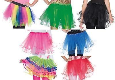 Tüllrock Petticoat Tutu Unterrock Karneval Fasching Kostüm (Kostüm Tutu Schwarz)