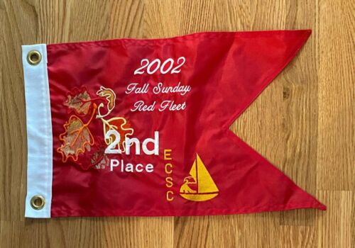 Eagle Creek Yacht Club Fall Sunday Red Fleet 2002 burgee pennant Indianapolis IN