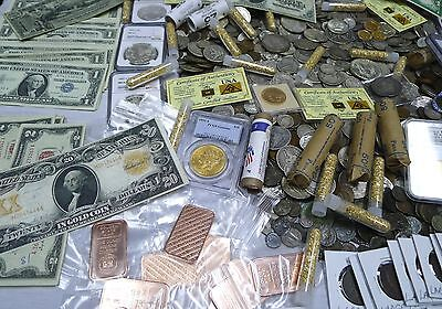 Antique Coin Estate Lot  Gold   Silver Bullion Currency Hoard Coins  10 Items