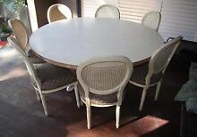 Large Round Table with seven upholstered Chairs Greenwich Lane Cove Area Preview