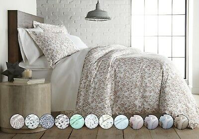 Luxury 3-Piece 100-percent Cotton Sateen Printed Duvet Cover Set by -